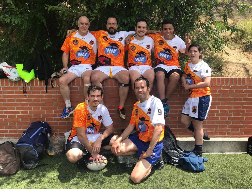 El equipo de touch de Rugby Fuencarral que participó en el torneo