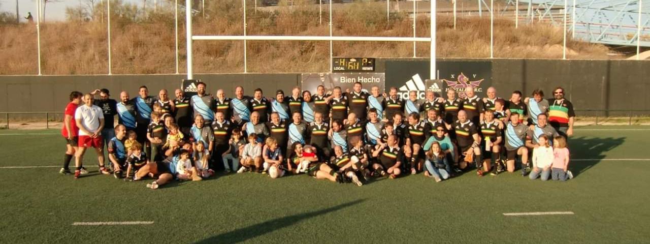 Foto de familia del partido Fuencarral Rugby contra Añejos Hortaleza