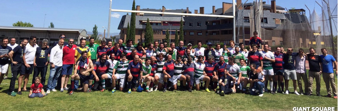 Foto de familia de Agrónomos (Viejos y jóvenes), Majadahonda y Rugby Fuencarral