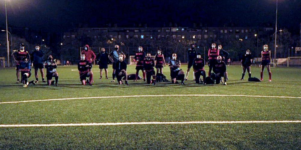 El equipo de Touch de Rugby Fuencarral disputa su primer partido post covid