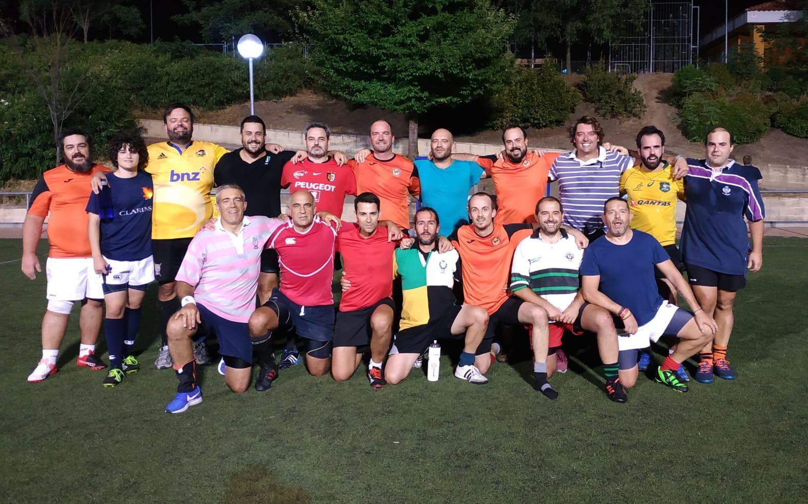 Primer entrenamiento de la temporada de veteranos de Rugby Fuencarral